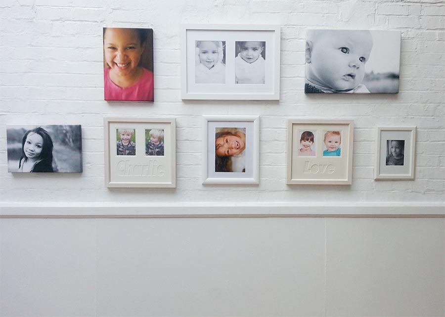 Examples of Kelliejo Photography's work at the studio