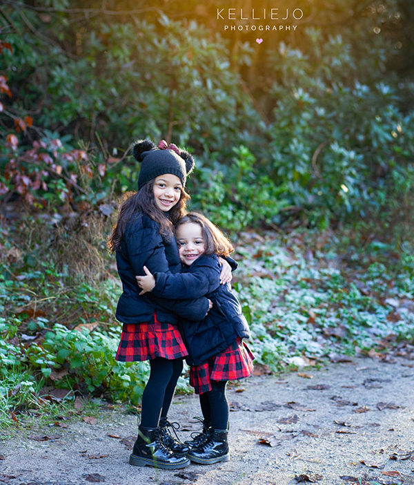 sisters in the woods