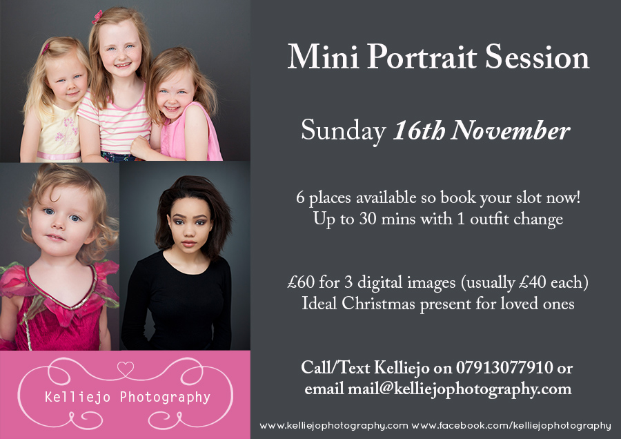 Mini Portrait Session Flyer