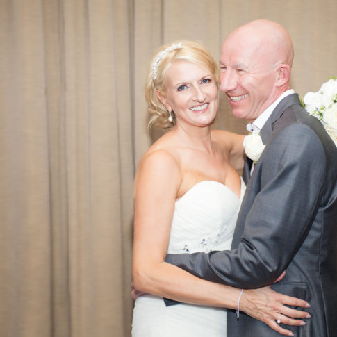 Wedding photography at The Palace Hotel in Manchester of a bride and groom.