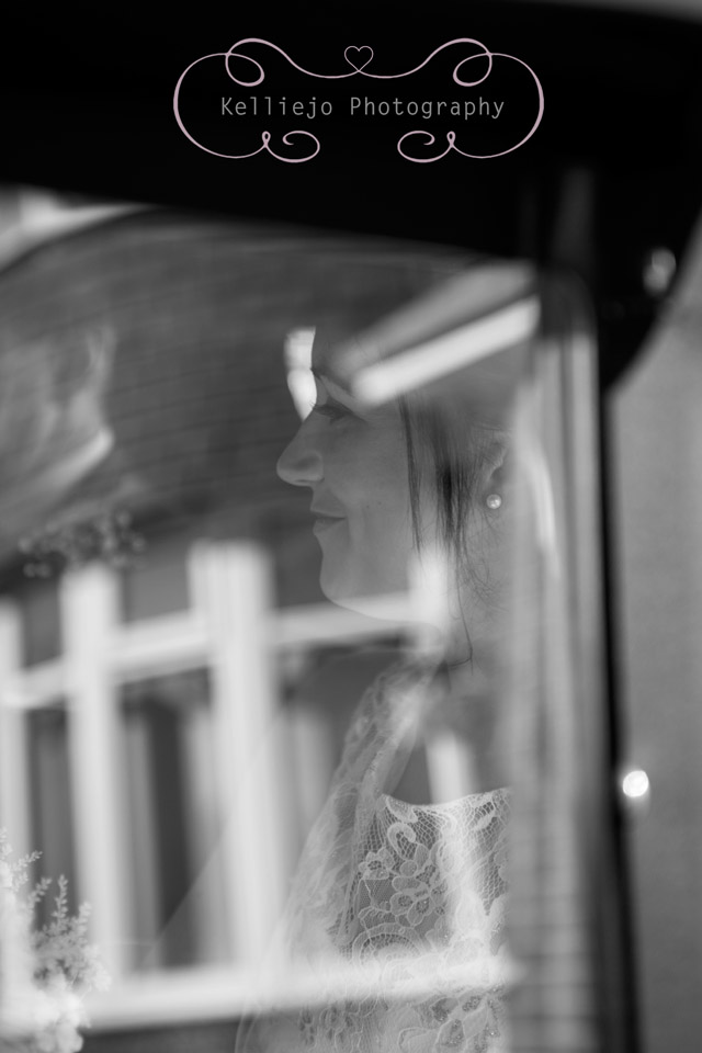 Styal Lodge wedding photography of the bride and her father in the wedding car.