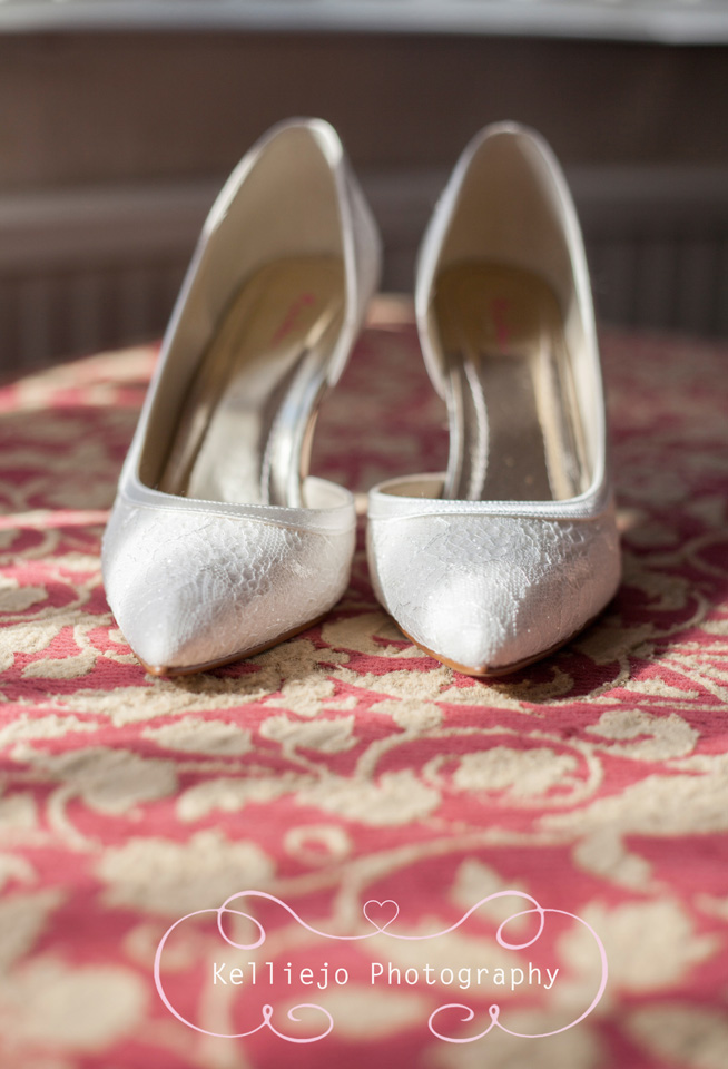 Styal Lodge wedding photography of the brides shoes/