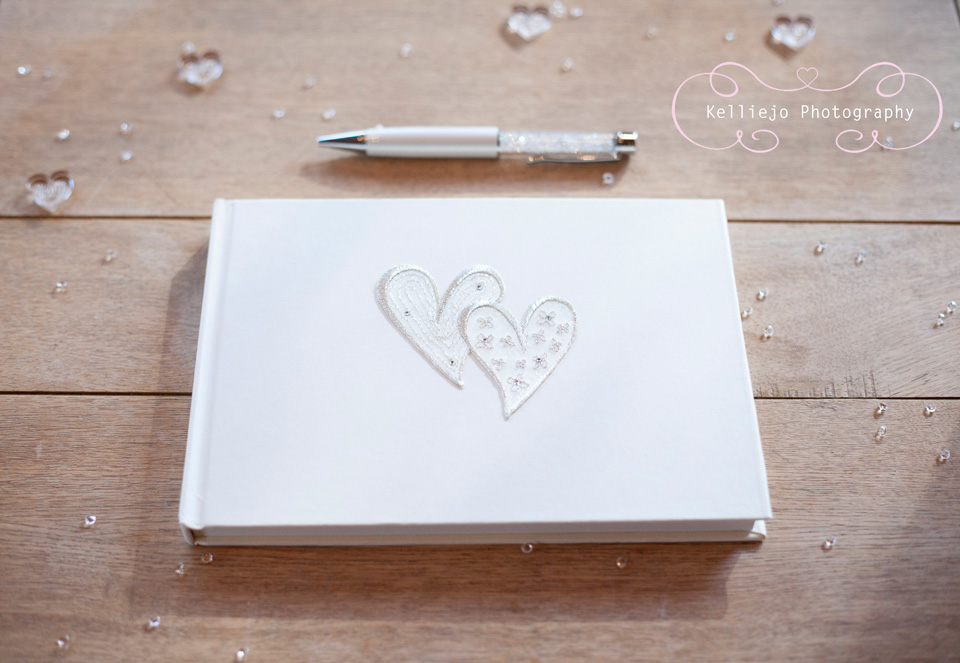 Styal Lodge wedding photography of the wedding guest book.