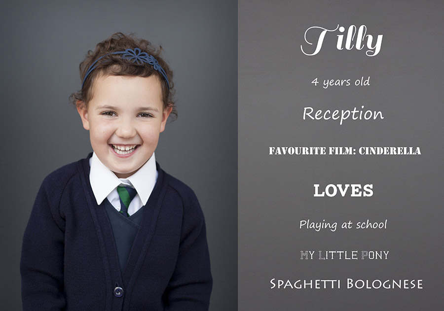 Tilly's school photograph